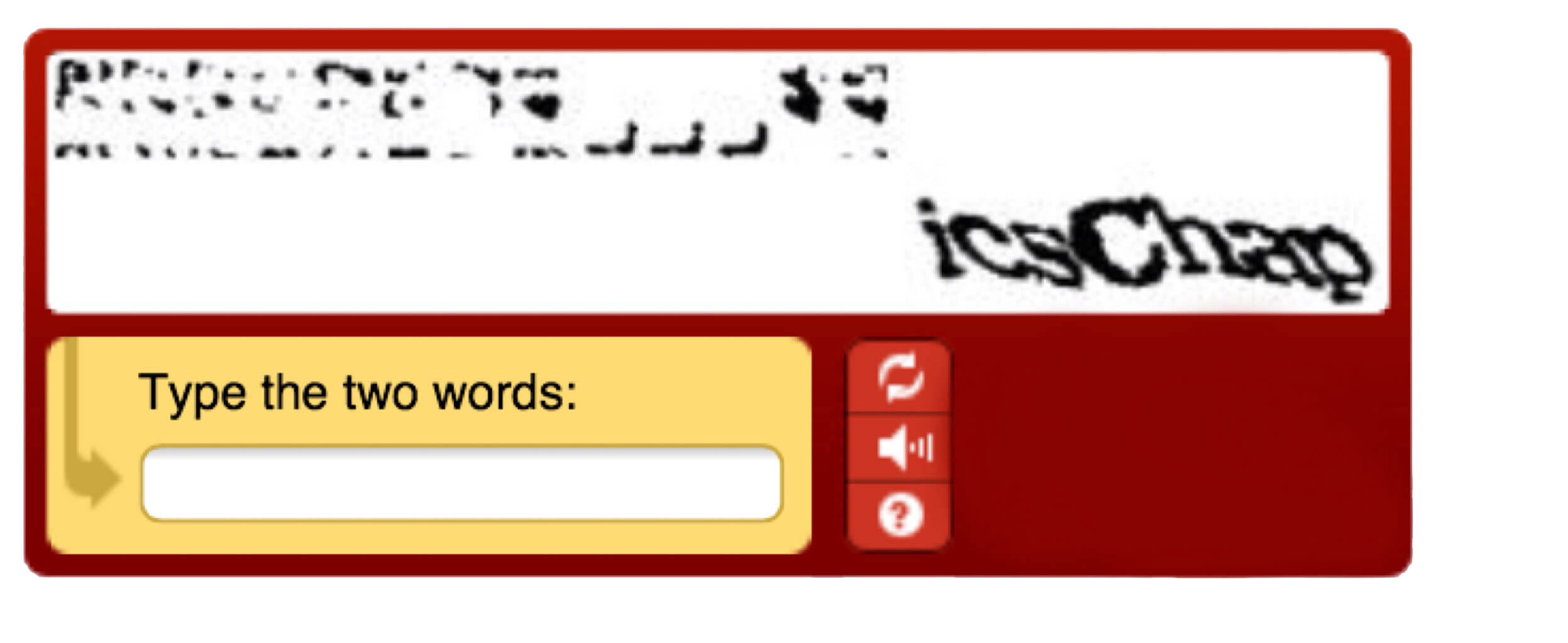 recaptcha distorted text